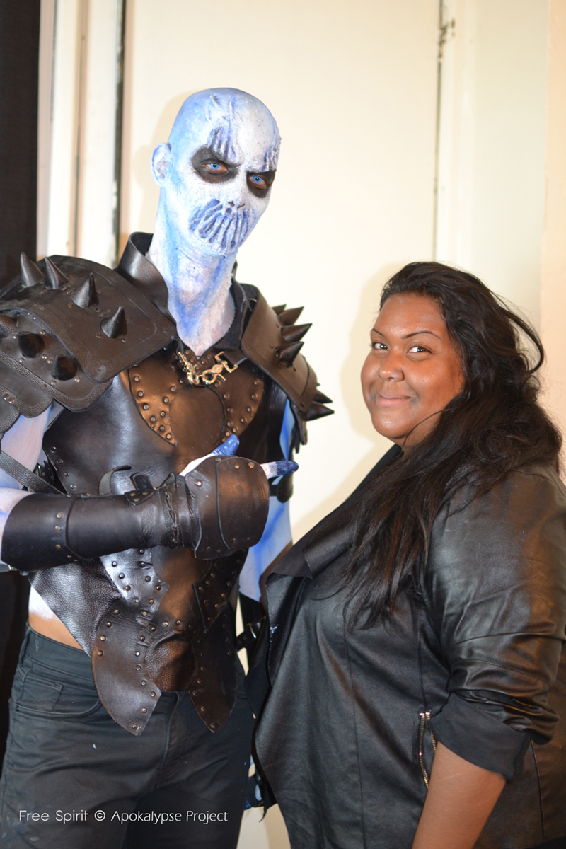Game of throne white walkers marcheurs de la nuit Free spirit maquillage artistique body painting effets spéciaux paris armure en cuir