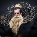 Hipster barbu la barbière de Paris avec Free Spirit et Fraise au Loup