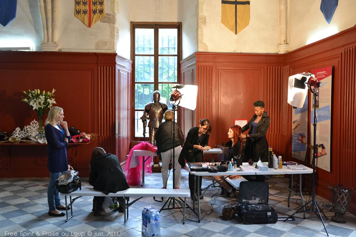 Chateau de Meung sur Loire shooting photo chapelle chapel Fraise au Loup Free spirit