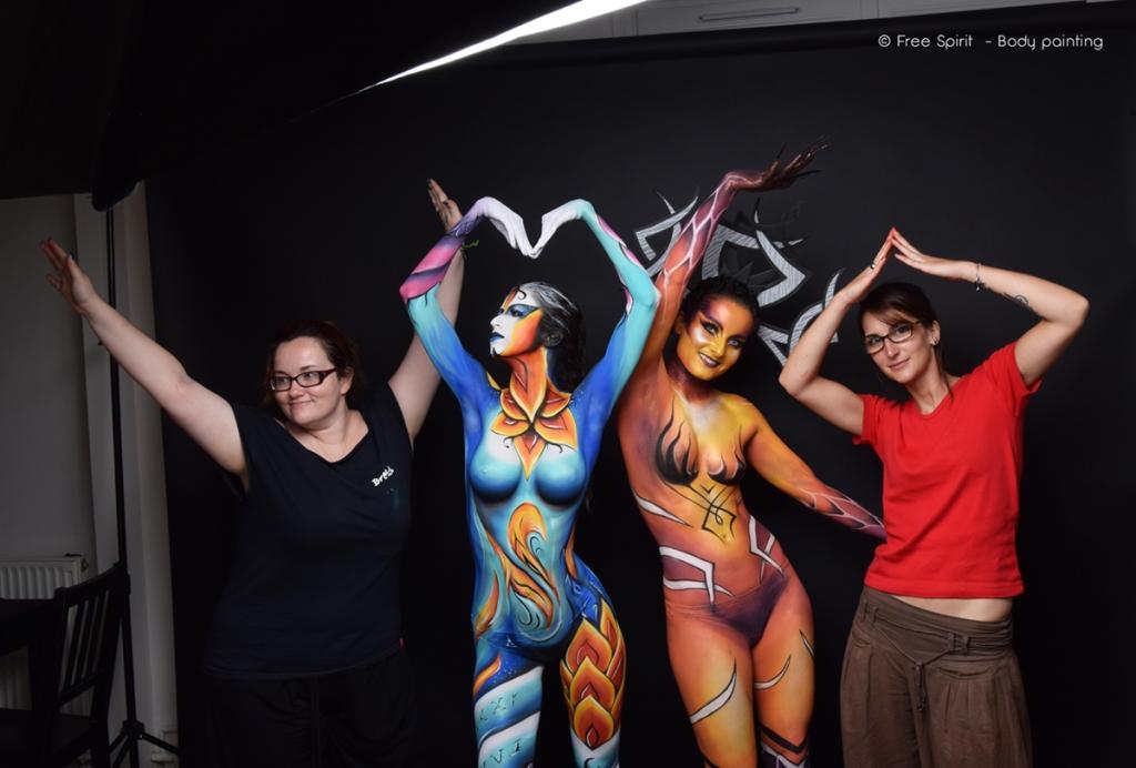 Body painting Paris Free Spirit