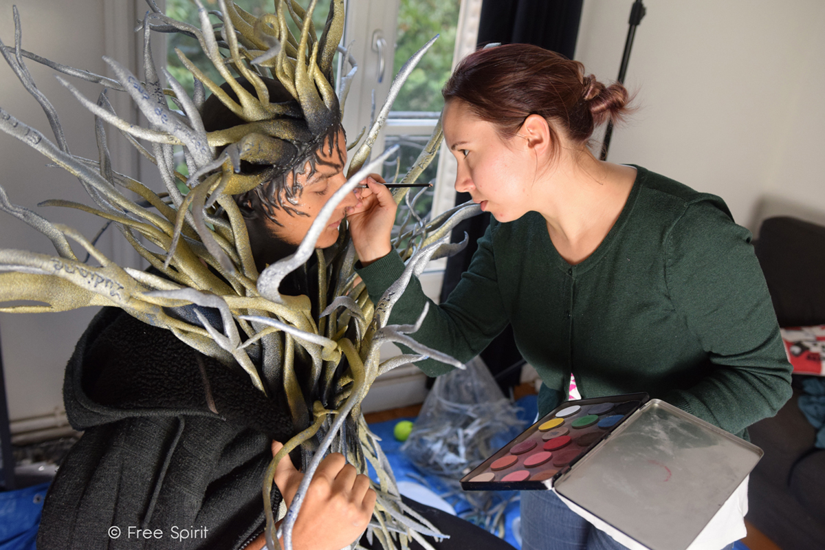 effets spéciaux body painting Free Spirit branche personnage arbre humain tree human
