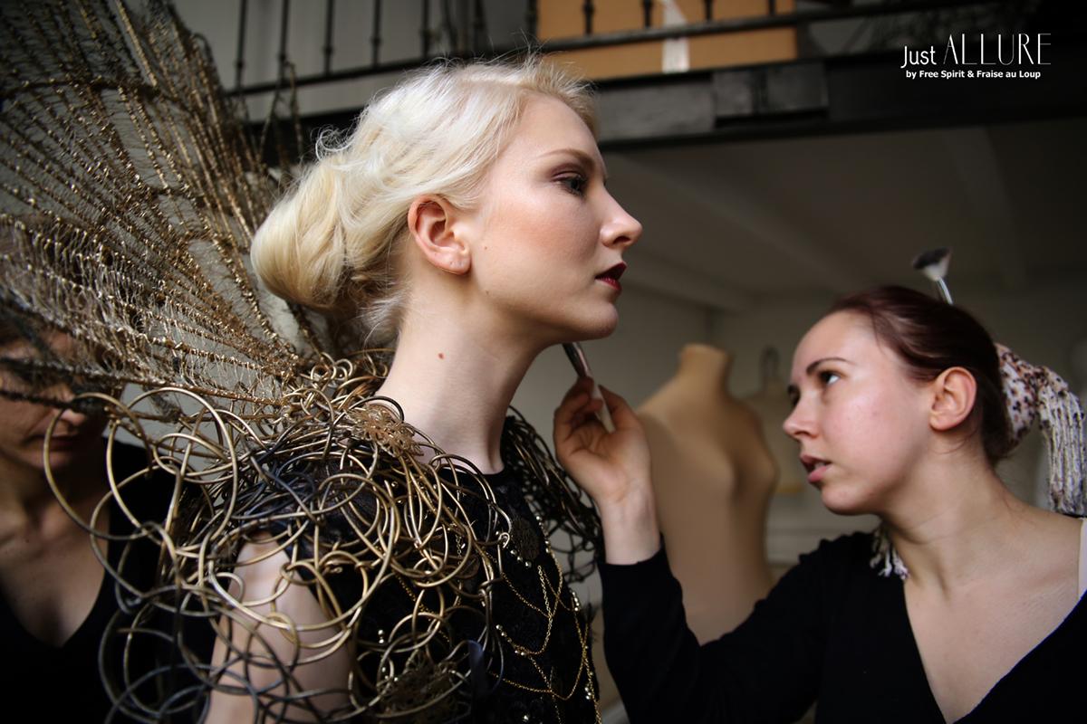 Maria Amanda création avant garde Fraise au Loup fashion week paris
