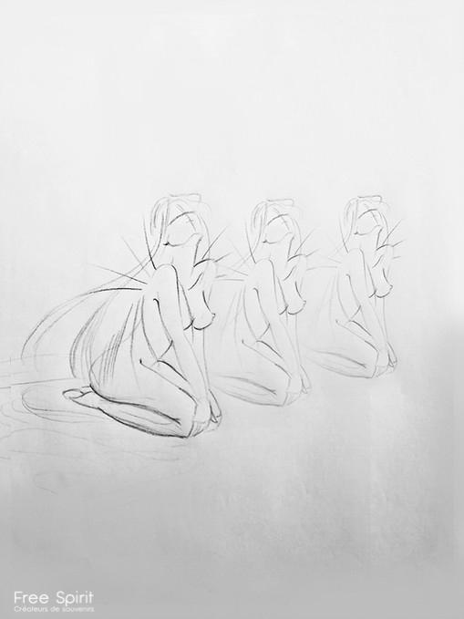 dessin ailes nu photo artistique Free Spirit Delphine Cencig