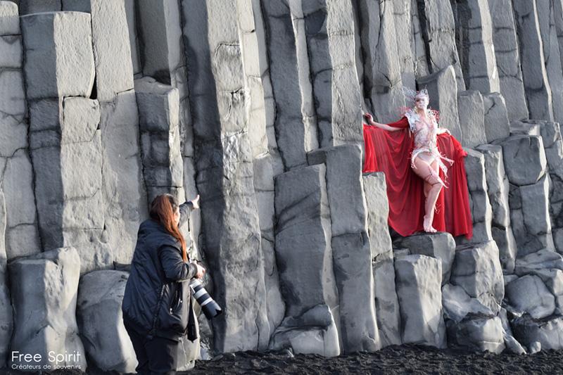 Shooting photo Islande costume par Fraise au Loup Free Spirit ART project