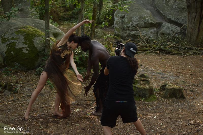 Tournage clip forêt Free Spirit
