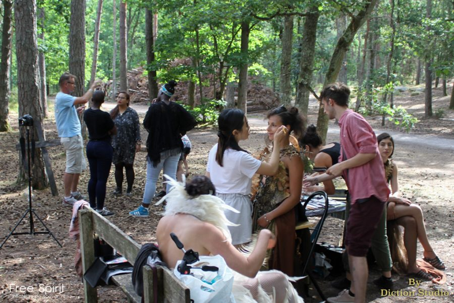 Tournage clip forêt et shooting photo