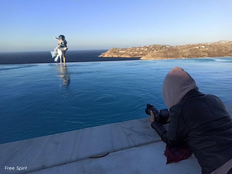Tournage de clip à Mykonos