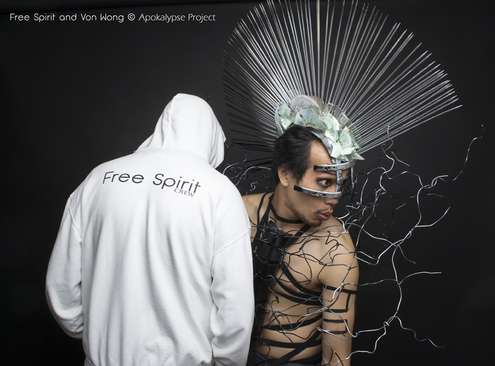 Von Wong Free Spirit Fraise au Loup Apokalypse costume coiffe headpiece headdress