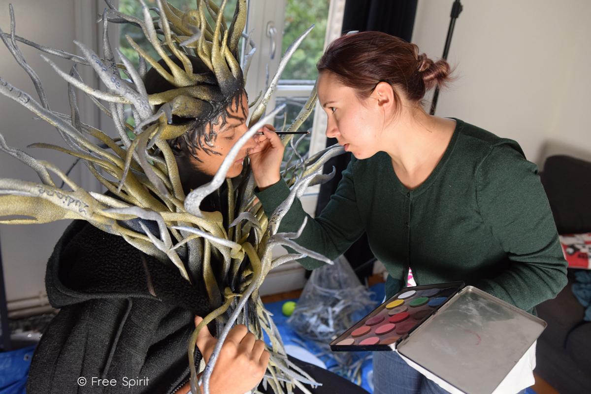 effets spéciaux body painting Free Spirit branche personnage arbre humain tree human