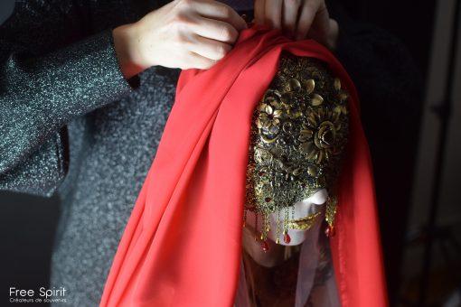 Free Spirit Fallen Angels Rebecca M photo séance paris masque doré headpiece headdress costume fraise au Loup hysteria machine fairytas ka amorastreya